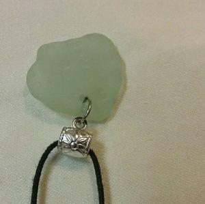 Jewelry - HAWAIIAN Beach Sea Glass Silver Flower Bale LOVELY